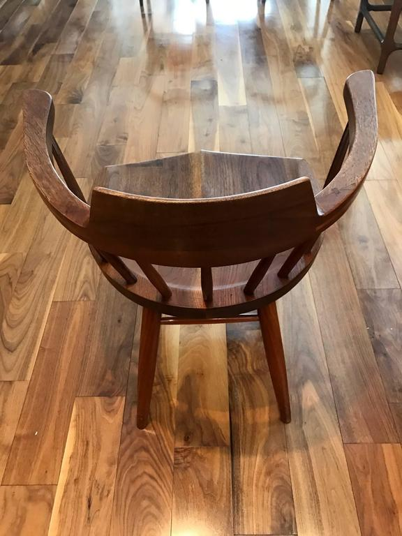 Walnut Set of Four Captain Chairs by George Nakashima For Sale