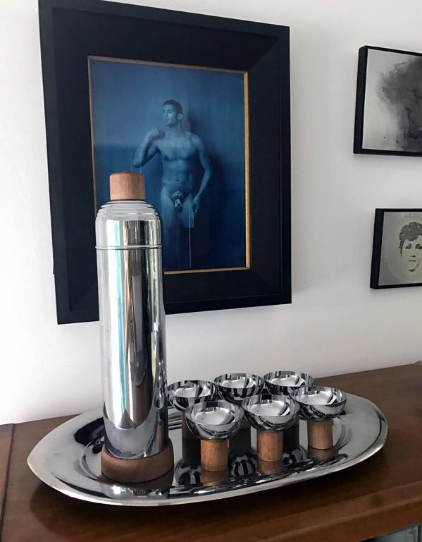 Mid-20th Century Japanese Art Deco Chrome Service Set by Farberware For Sale