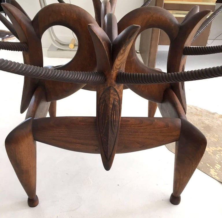 Late 20th Century A Most Beautiful Carved Table by Judy McKie For Sale