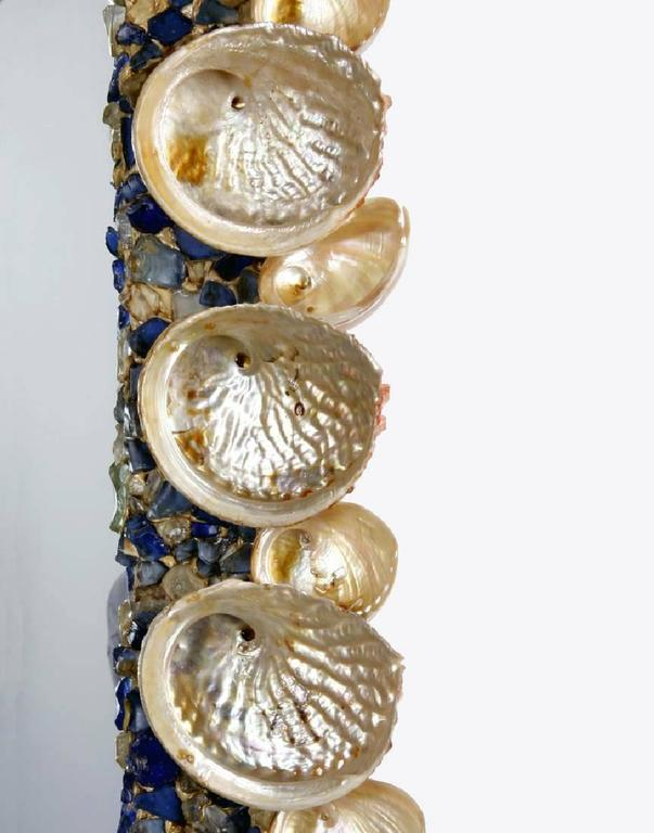 Large Mirror With Abalone Shells At 1stdibs