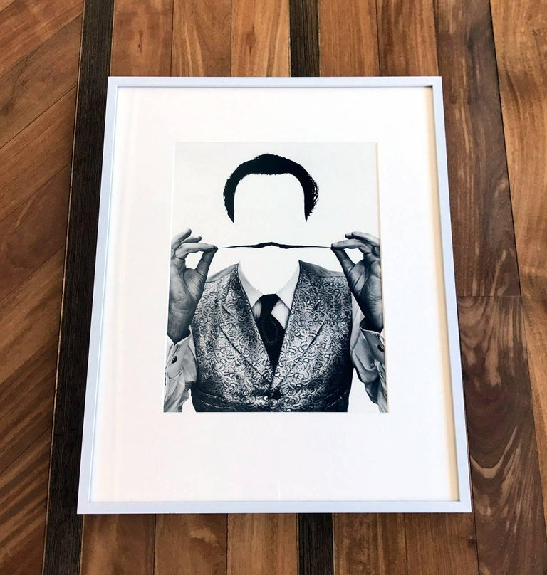 Artist: Philippe Halsman (1906-1979) Medium: Gelatin Silver Print Title: Invisible Dali Date: 1954; Printed in 1981 as part of the ten-piece Dali Portfolio by Stephen Gersh and the Neikrug Press under the supervision of Halsman's widow