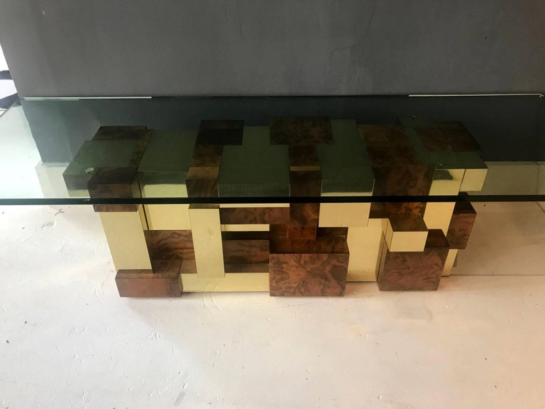 Mid-Century Modern Rare Model Cityscape Coffee Table by Paul Evans for Directional For Sale