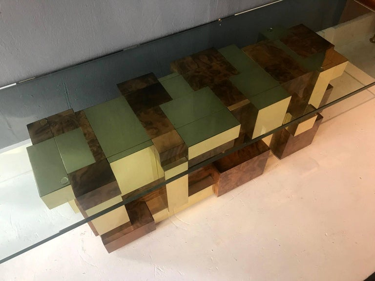 Rare Model Cityscape Coffee Table by Paul Evans for Directional In Good Condition For Sale In North Miami, FL