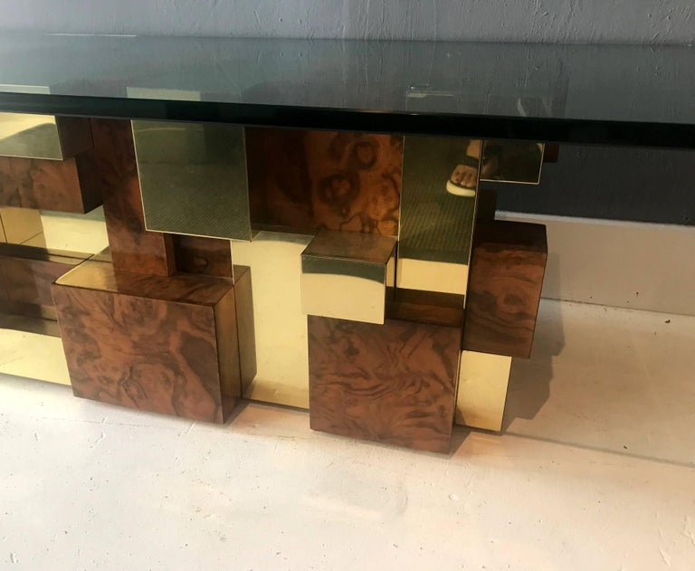 Late 20th Century Rare Model Cityscape Coffee Table by Paul Evans for Directional For Sale
