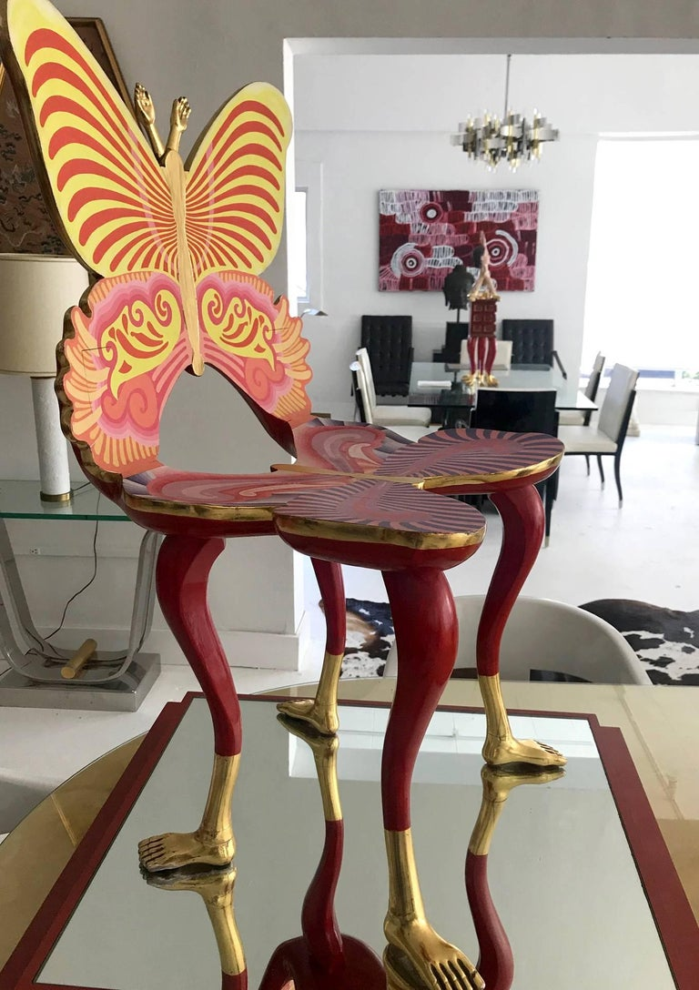 Modern Sculptural Butterfly Chair by Pedro Friedeberg For Sale