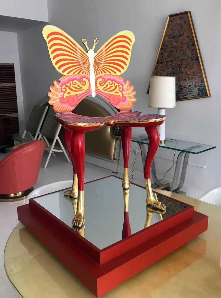 Mexican Sculptural Butterfly Chair by Pedro Friedeberg For Sale