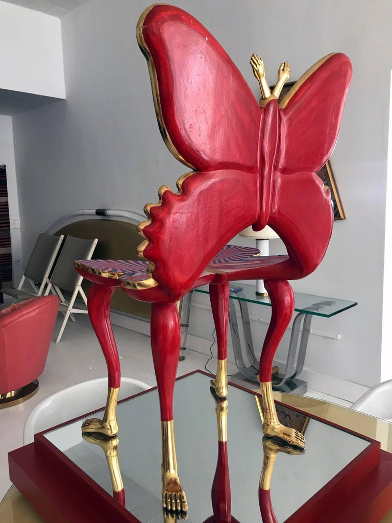 Sculptural Butterfly Chair by Pedro Friedeberg In Good Condition For Sale In North Miami, FL
