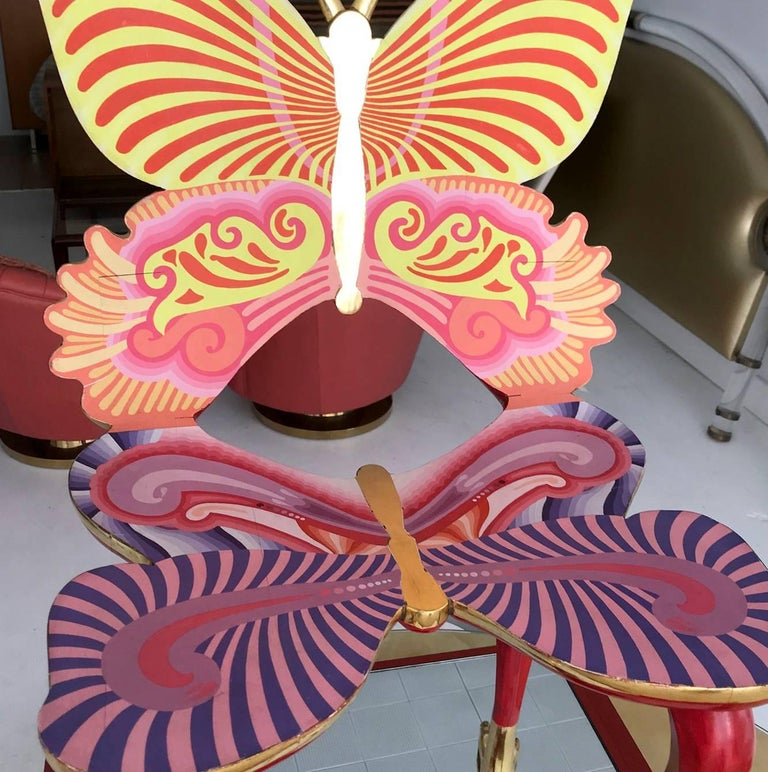 Wood Sculptural Butterfly Chair by Pedro Friedeberg For Sale