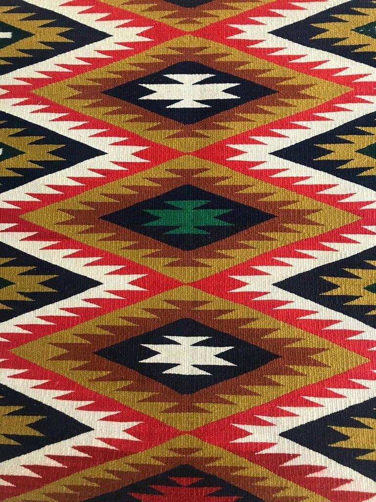 Framed Navajo Germantown Weaving For Sale At 1stdibs