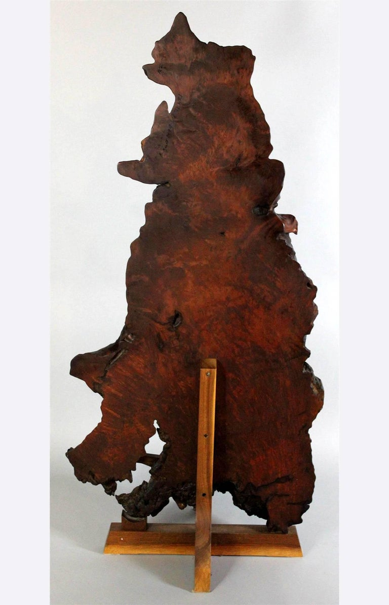 """A rare floor screen made of the redwood root on walnut stands made by Mira Nakashima in 1994. This is one of the thirteen """"Tsuitate Screens"""" made by Mira Nakashima for an exhibition in Tenri gallery in NYC in 1994. Striking piece of"""