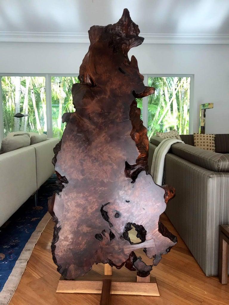 Organic Modern Rare Redwood Tsuitate Floor Screen by Mira Nakashima For Sale