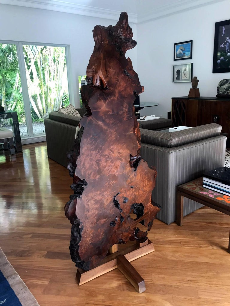 American Rare Redwood Tsuitate Floor Screen by Mira Nakashima For Sale