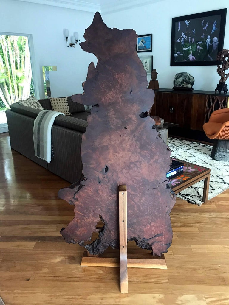 Late 20th Century Rare Redwood Tsuitate Floor Screen by Mira Nakashima For Sale