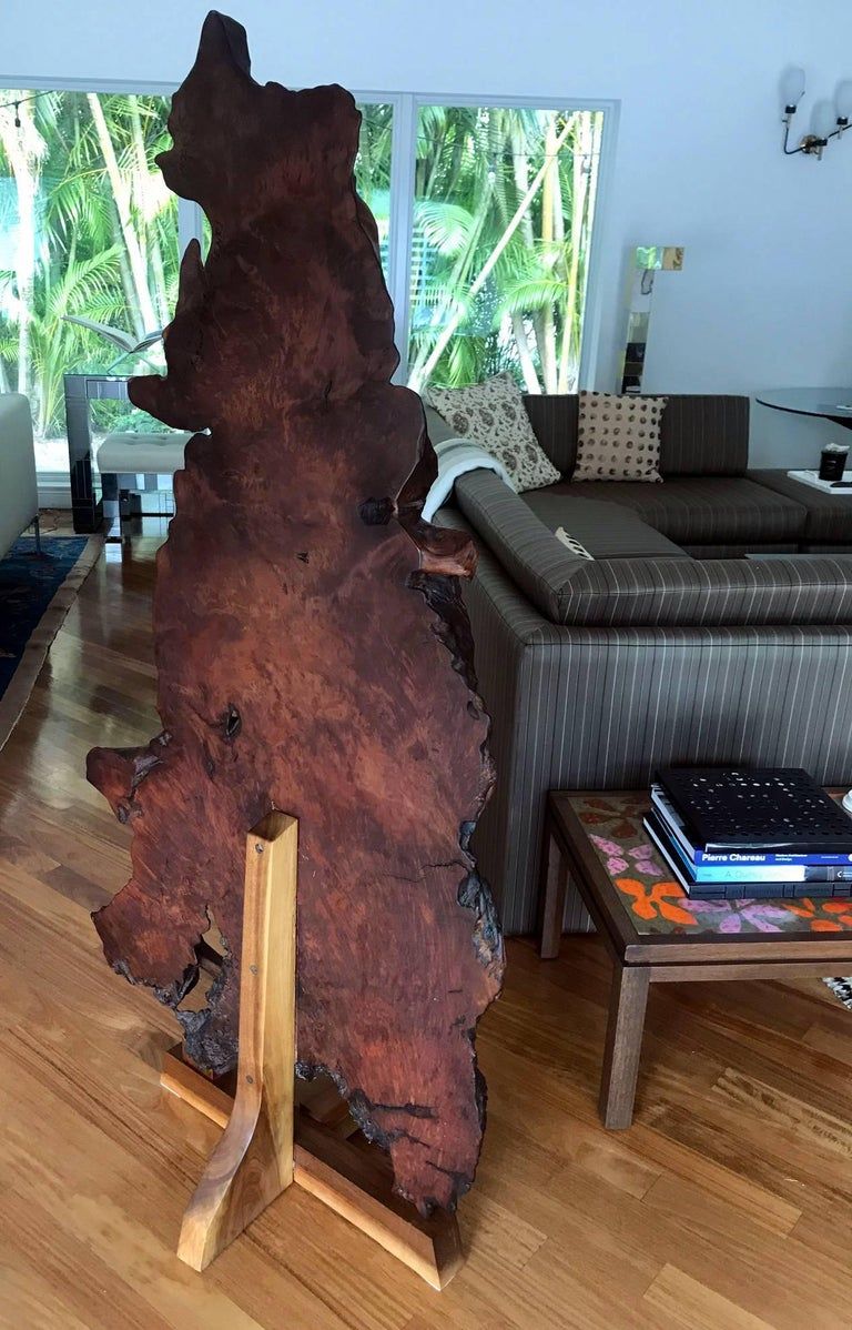 Wood Rare Redwood Tsuitate Floor Screen by Mira Nakashima For Sale