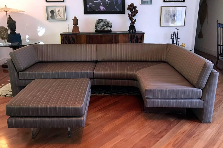 Mid-Century Modern Fantastic Sectional Omnibus Sofa by Vladimir Kagan For Sale