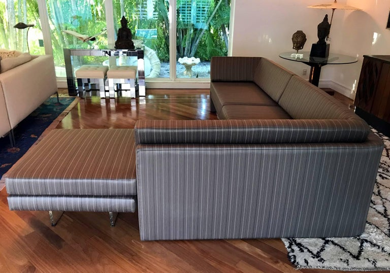 Fantastic Sectional Omnibus Sofa by Vladimir Kagan In Excellent Condition For Sale In North Miami, FL
