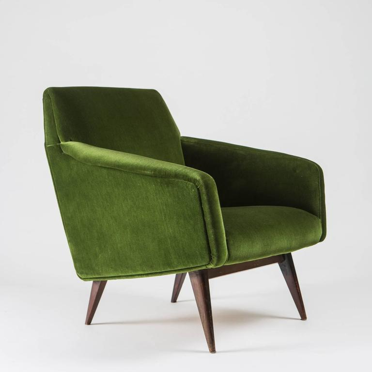 Remarkable Italian 1950s Lounge Chair Compact And Really Comfortable Seating It Represents The Visual