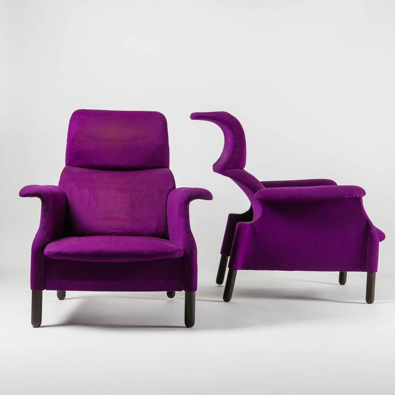 "Pair of ""Sanluca"" Lounge Chairs by Castiglioni for Gavina 2"