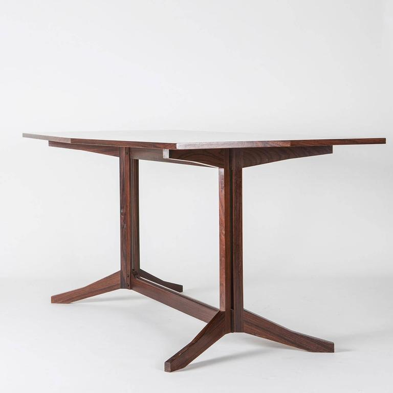 Italian Rosewood Desk Manufactured by Poggi For Sale