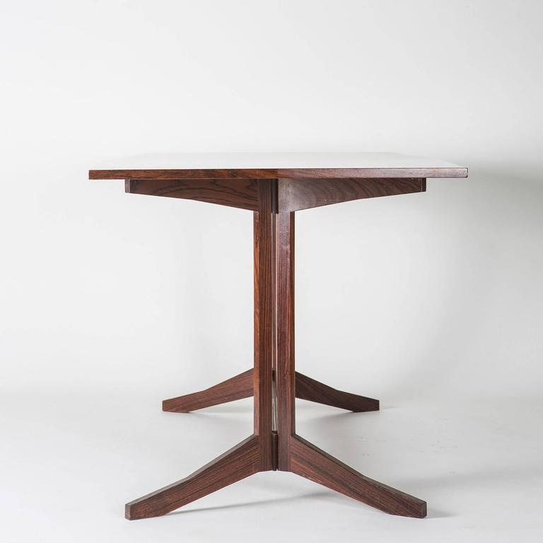 Mid-Century Modern Rosewood Desk Manufactured by Poggi For Sale