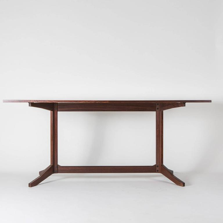 Rosewood Desk Manufactured by Poggi In Fair Condition For Sale In Milan, IT
