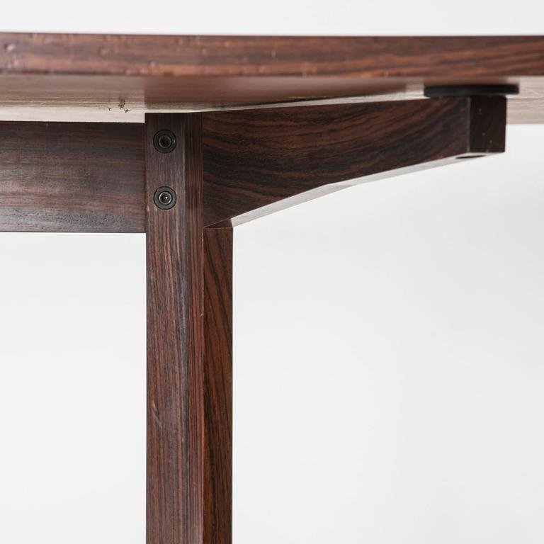 Mid-20th Century Rosewood Desk Manufactured by Poggi For Sale