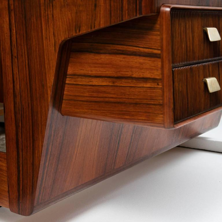 Mid-20th Century Important Headboard and Double Bed by Gio Ponti For Sale