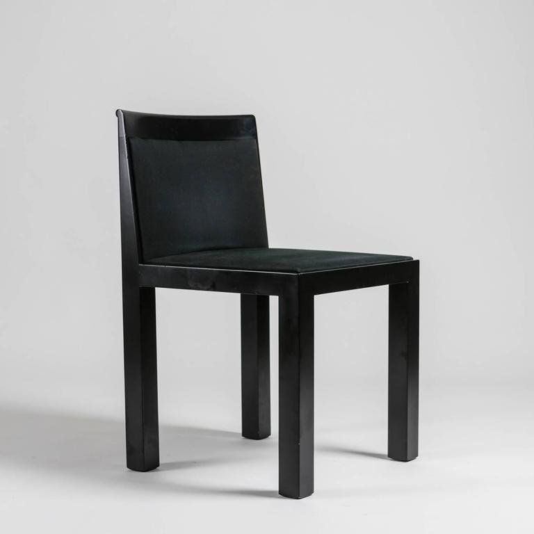 Set of four teatro chairs by aldo rossi for molteni for for Molteni furniture