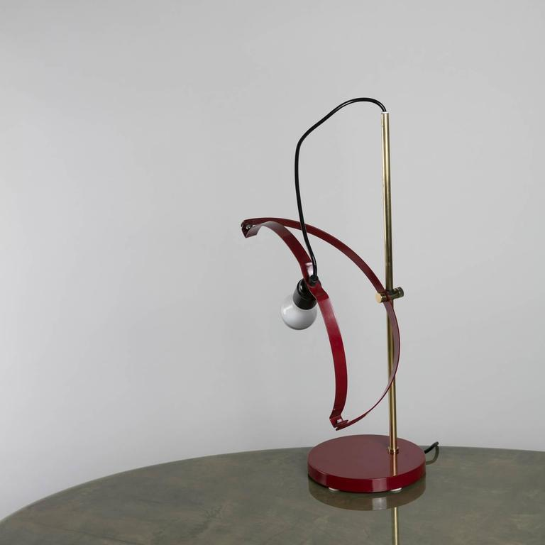 Italian Rare Table Lamp by Reggiani For Sale