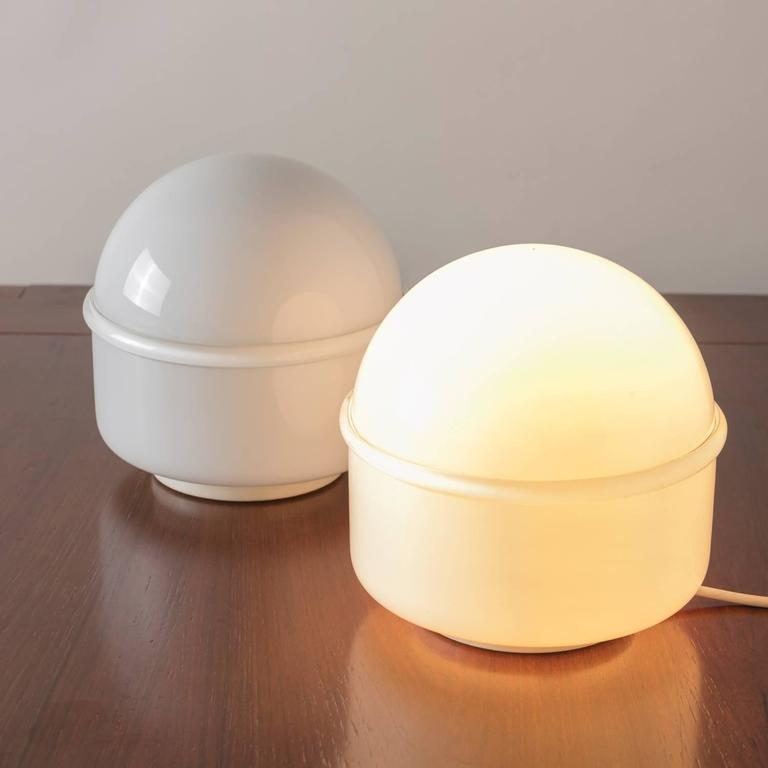 Italian Pair of Tecla Table Lamps by Noti Massari for Leucos For Sale