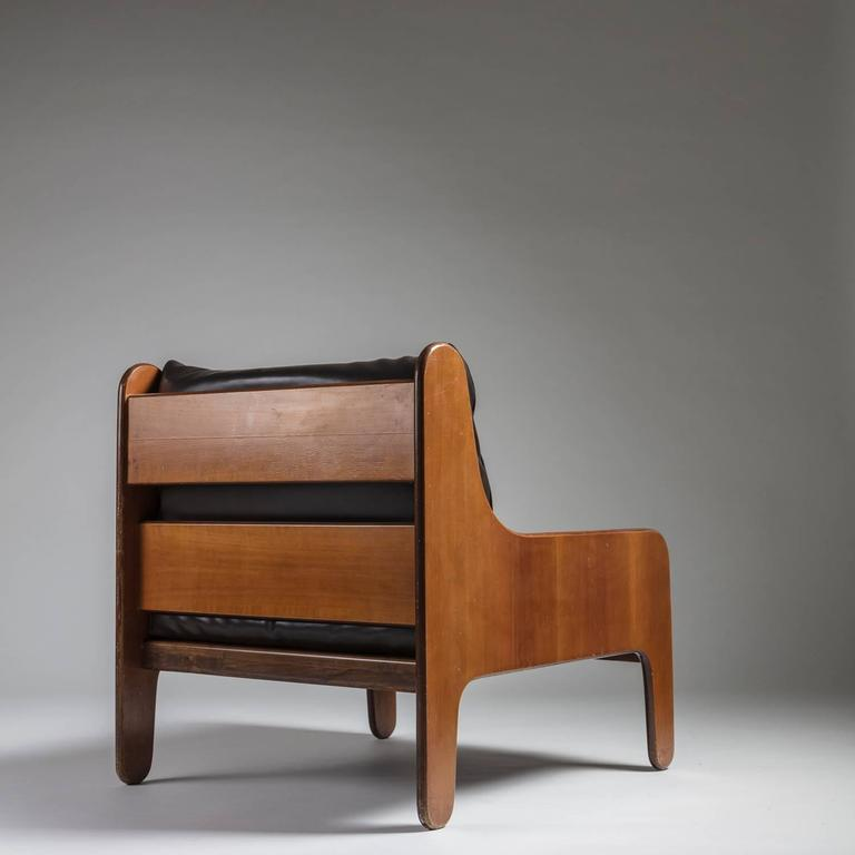 Set Of Two Quot Baronet Quot Easy Chairs By Marco Zanuso For Arflex For Sale At 1stdibs