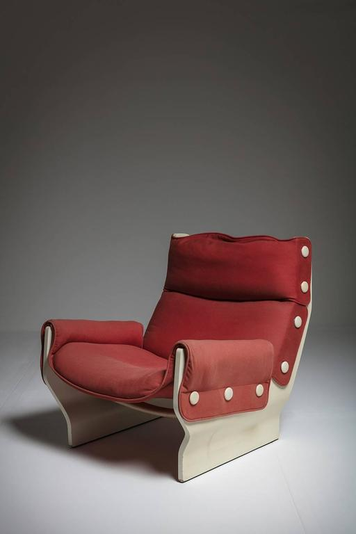 Canada lounge chair by osvaldo borsani for tecno for for Chaise longue canada