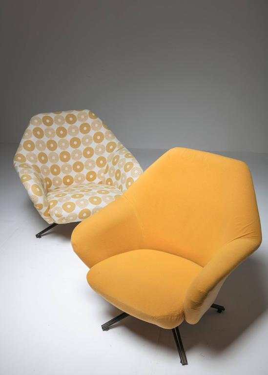 "Set of Two ""P32"" Lounge Chairs by Osvaldo Borsani for Tecno 2"