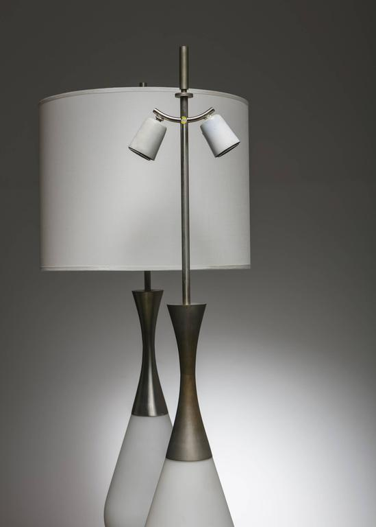 Mid-20th Century Marvellous Pair of Stilnovo Table Lamps For Sale