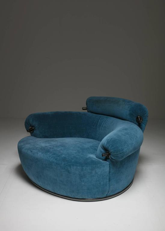 """""""Toro"""" Lounge Chair with Ottoman by Luigi Caccia Dominioni for Azuc"""