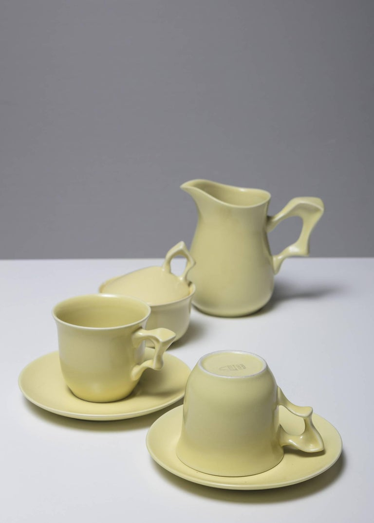 Mid-Century Modern Ceramic Set by Antonia Campi for SCI Laveno For Sale
