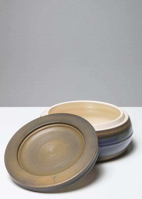 Remarkable ceramic box by Franco Bucci for Laboratorio Pesaro.