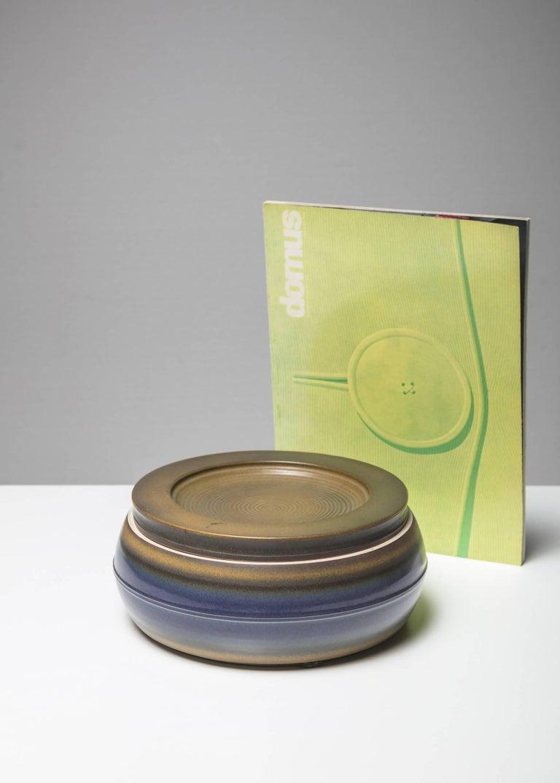 Italian Ceramic Box by Franco Bucci for Laboratorio Pesaro For Sale