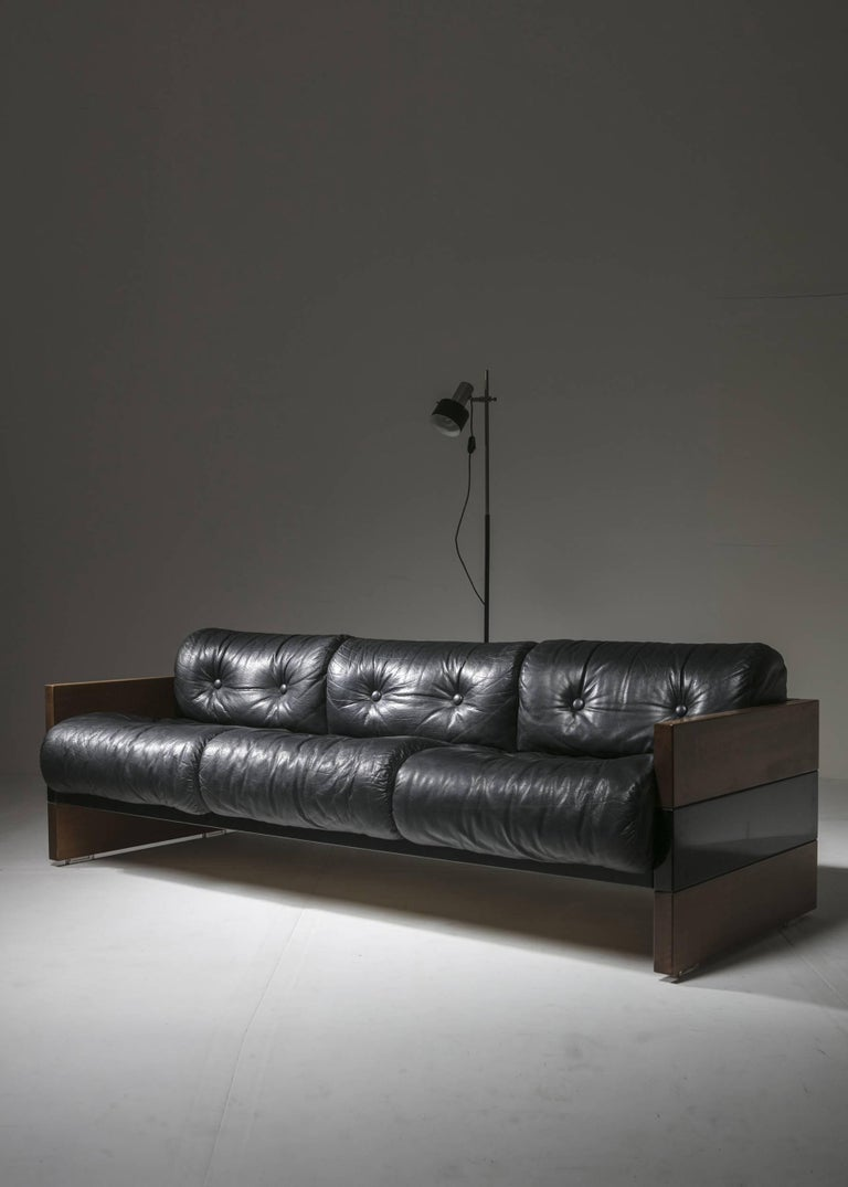 Leather Sofa by Albert Leclerc for Planula For Sale 4