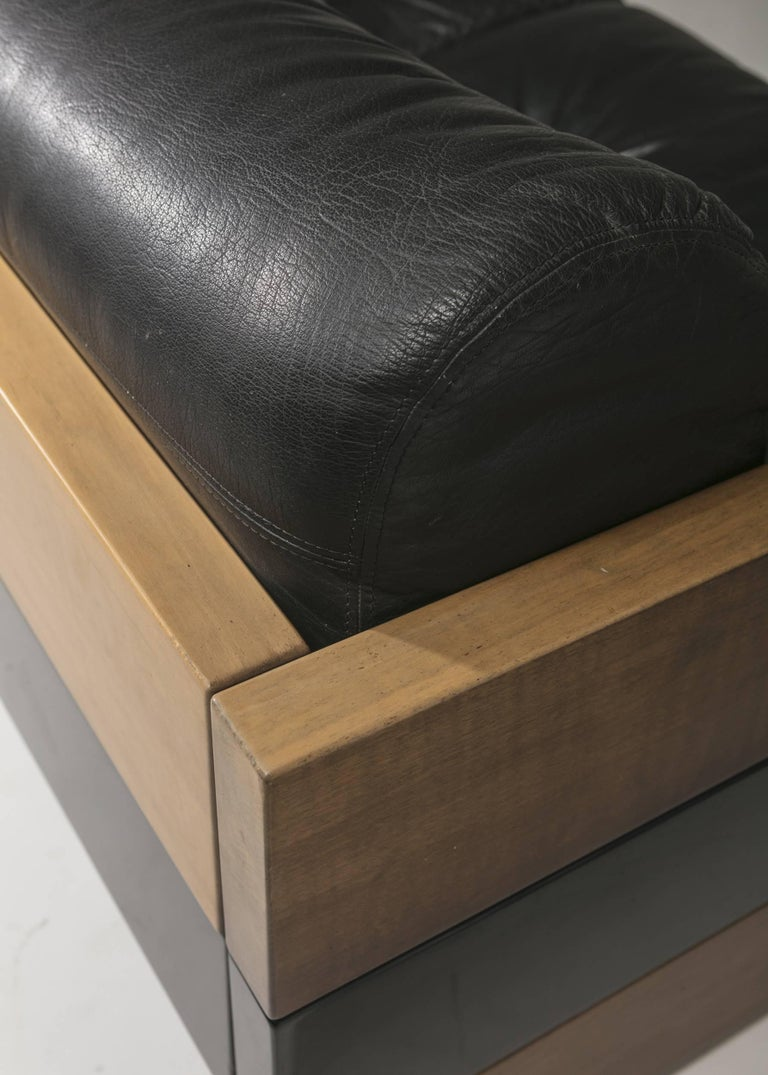 Leather Sofa by Albert Leclerc for Planula For Sale 3