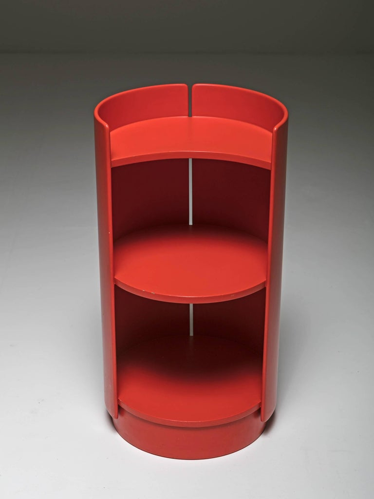 Revolving plywood bookcase by Kazuhide Takahama for Gavina.
