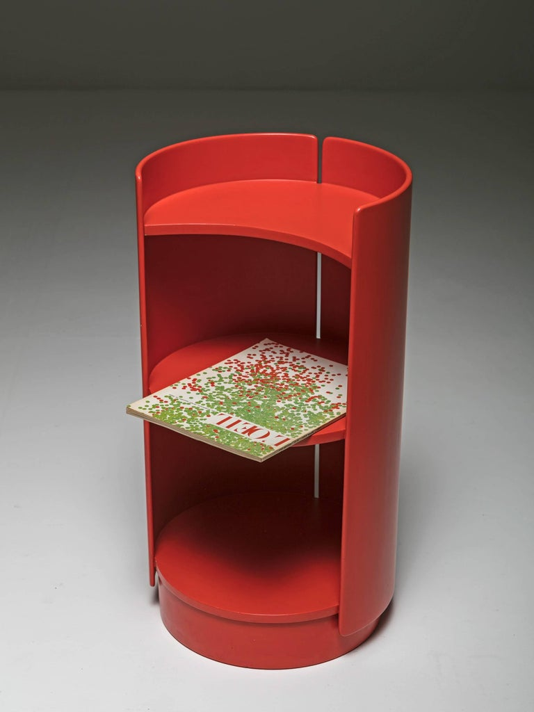 Late 20th Century Revolving Bookcase by Kazuhide Takahama for Gavina For Sale