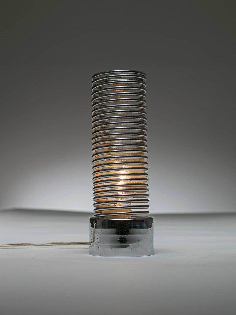 Italian Spring Table Lamp by Harvey Guzzini For Sale