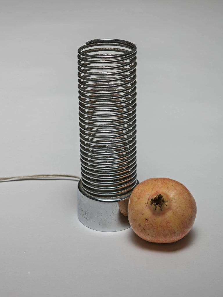 Metal Spring Table Lamp by Harvey Guzzini For Sale