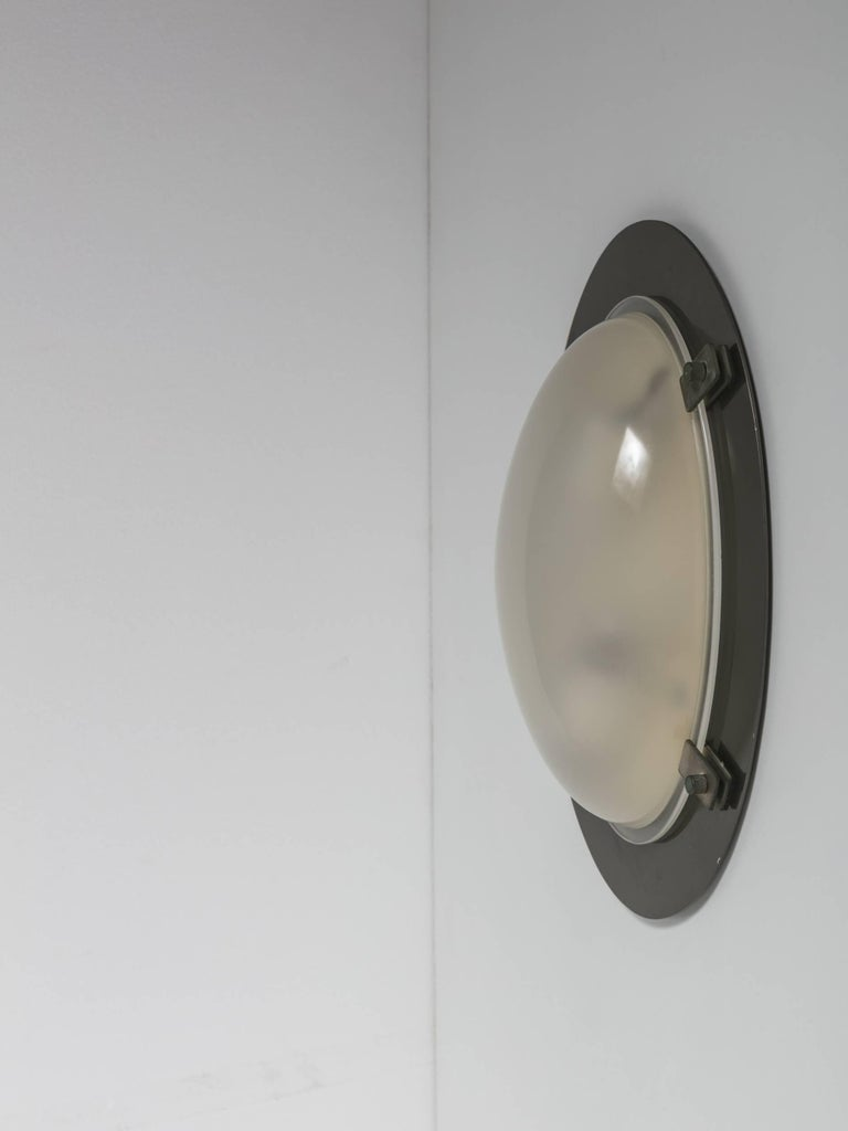 Set of two ceiling, wall lamps model Lsp8 by Luigi Caccia Dominioni for Azucena.