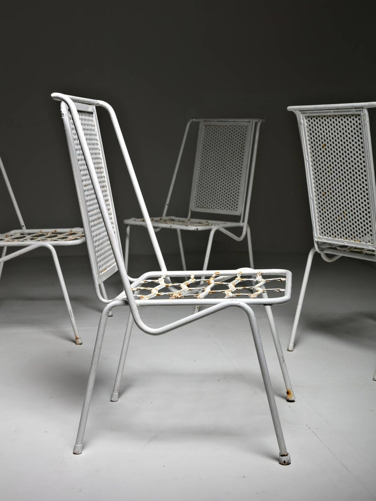 Set of Four Italian 1950s Patio Chairs 4