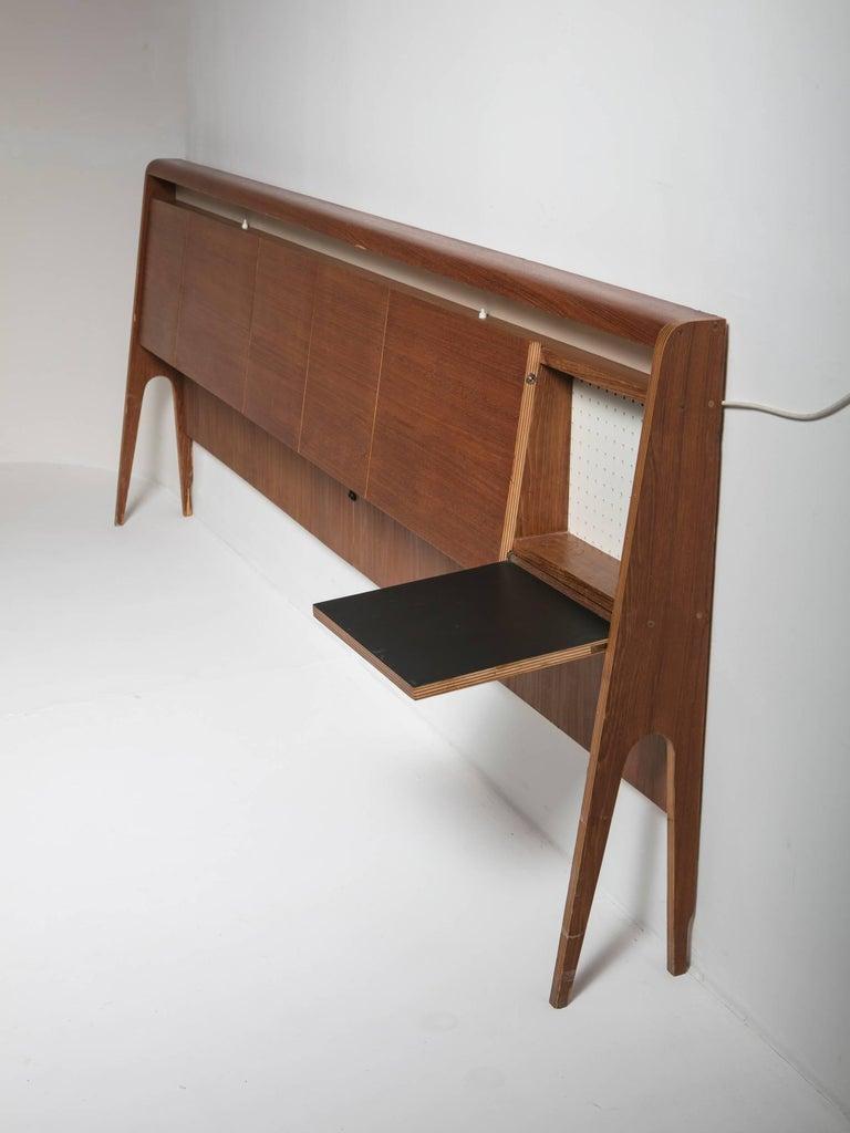 Italian 50s Plywood Headboard For Sale 1