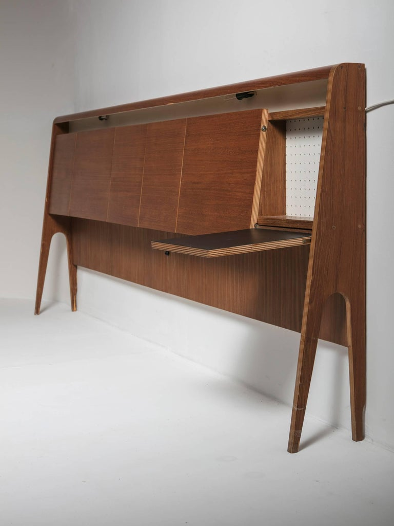 Italian 50s Plywood Headboard For Sale 2