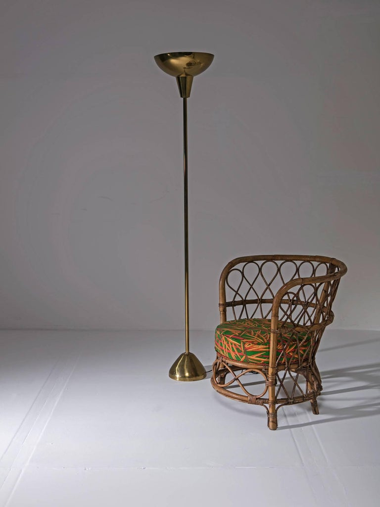 Mid-20th Century Set of Two Italian 1950s Wicker Chairs For Sale