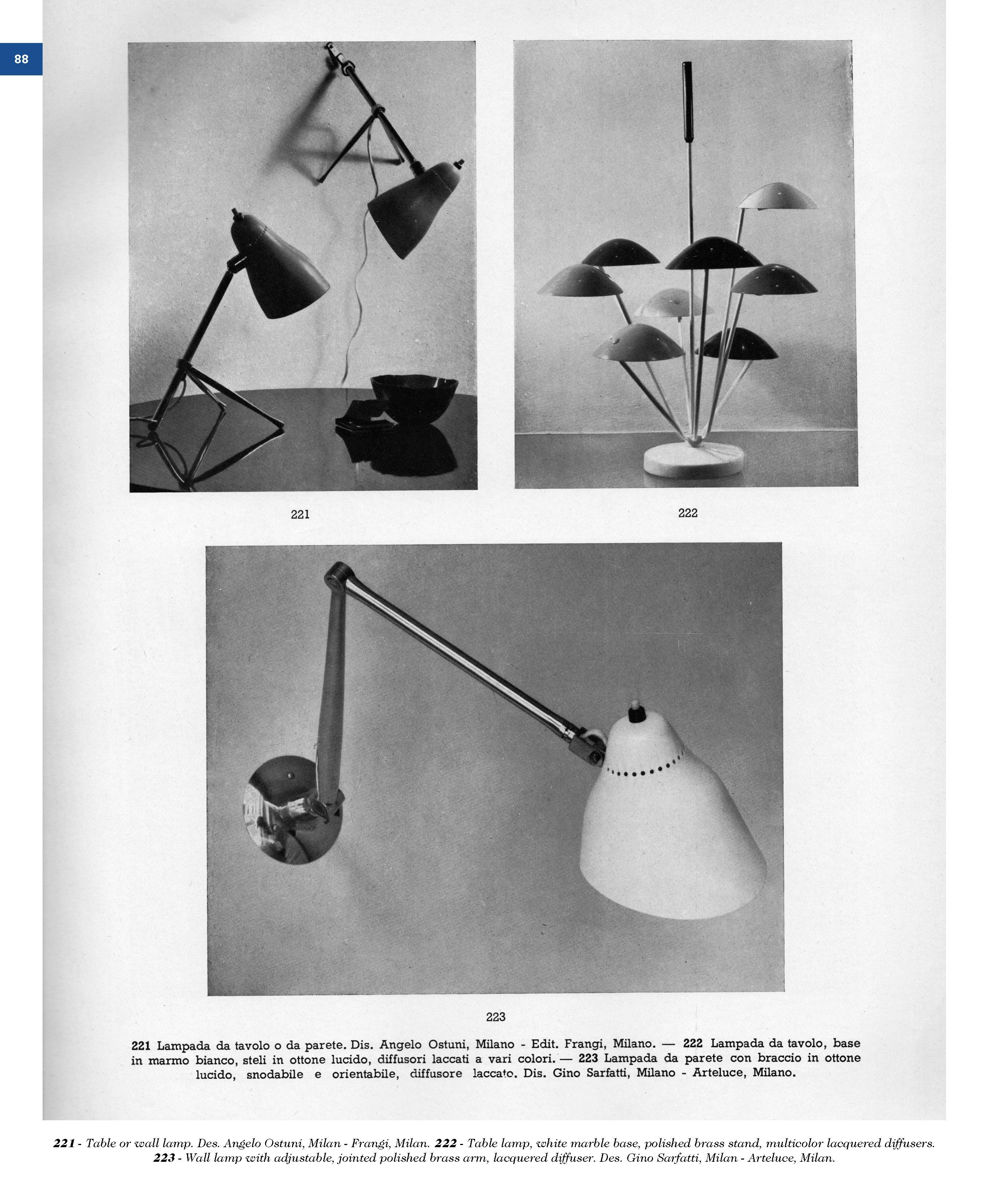 Lampade Da Parete Con Braccio esempi reprint, lighting, 1934-1964